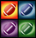 Rugby balls with lines background Stock Photo
