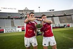 Rugby 7 Barcelona 2011 van de Grand Prixreeks Stock Foto's