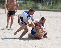 Rugby beach tournamet Stock Images