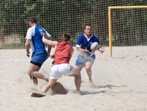 Rugby beach tournamet Royalty Free Stock Photography