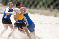 Rugby beach tournamet Stock Photography