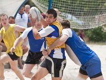 Rugby beach tournamet Royalty Free Stock Photo