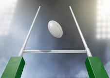 Rugby-Beitrags-Umwandlungs-Nacht Stockfoto