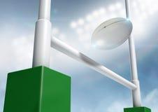 Rugby-Beitrags-Umwandlungs-Nacht Lizenzfreies Stockfoto