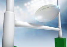 Rugby-Beitrags-Umwandlungs-Nacht Stockbilder