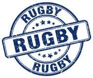 Rugby blue grunge round vintage stamp. Rugby blue grunge round vintage rubber stamp Royalty Free Stock Photos