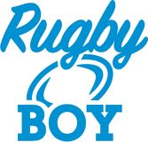 Rugby boy. Vector sports icon Royalty Free Stock Images