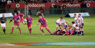 Rugby Bulls Defence South Africa 2012 Royalty Free Stock Image