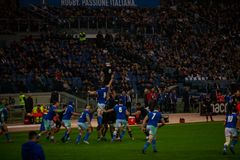 Rugby Cattolica match Italy - All Black. stock images