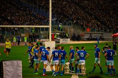 Rugby Cattolica match Italy - All Black. stock photography