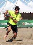 rugby ceco del rappresentante del international della spiaggia Immagine Stock