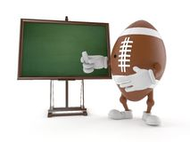 Rugby character with blank blackboard Stock Image