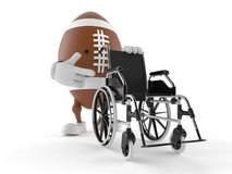 Rugby character with wheelchair Royalty Free Stock Image