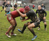 Rugby clash Stock Photography