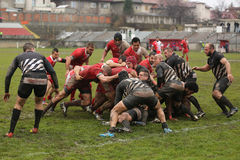 Rugby clash Stock Photos