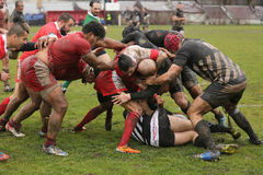 Rugby clash Royalty Free Stock Images