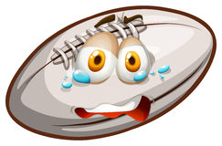 Rugby with crying face Stock Photography