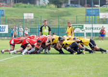 RUGBY: CSM BUCHAREST-DINAMO BUCHAREST Stock Photos