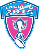 Rugby Cup Ball England 2015 Shield Royalty Free Stock Photography