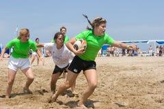 Rugby da praia Fotografia de Stock Royalty Free