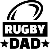 Rugby dad. Vector sports icon Stock Image