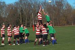 Rugby dans l'action Images libres de droits
