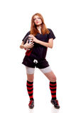 Rugby das mulheres Imagens de Stock Royalty Free