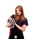 Rugby das mulheres Fotografia de Stock Royalty Free