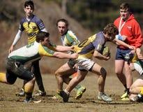 Rugby de club de lycée Photo stock