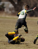 Rugby de club de lycée Photos stock