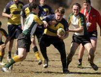 Rugby de club de lycée Photo libre de droits