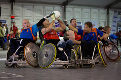 Rugby de fauteuil roulant Image stock