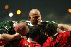 Rugby de la Roumanie-Géorgie Photographie stock libre de droits