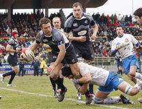 rugby de nations de l'Italie d'erb Ecosse six contre photographie stock