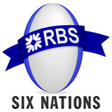 Rugby de nations de RBS 6 illustration stock
