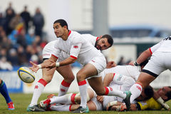 Rugby de Roménia-Geórgia Foto de Stock