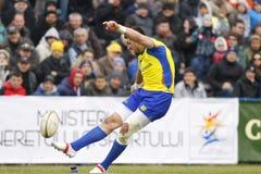 Rugby de Romênia-Geórgia Foto de Stock