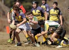 Rugby del club della High School Immagine Stock