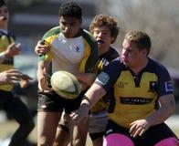 Rugby del club della High School Fotografia Stock