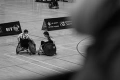 Rugby della sedia a rotelle immagine stock libera da diritti