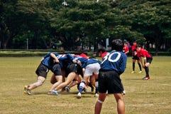Rugby in der Aktion Lizenzfreie Stockfotos
