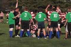 Rugby in der Tätigkeit Stockbild