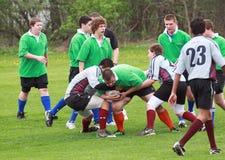 Rugby in der Tätigkeit Lizenzfreie Stockfotos