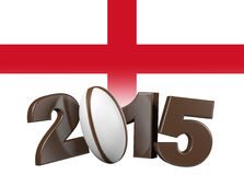 Rugby 2015 design with England Flag Stock Photography