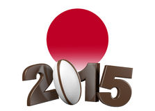 Rugby 2015 design with Japan Flag Royalty Free Stock Photo