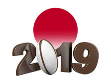 Rugby 2019 design with Japan Flag Royalty Free Stock Images