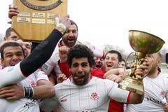 Rugby di Romania-Georgia immagine stock