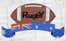 Rugby do emblema foto de stock royalty free