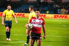 Rugby dopasowanie w Rumunia Zdjęcia Royalty Free