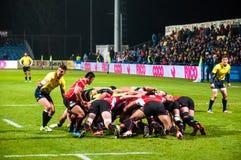 Rugby dopasowanie w Rumunia Obraz Stock